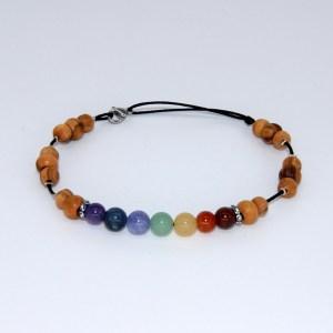 Bracelet de cheville «le 7 chakras»