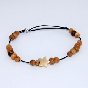 Bracelet de cheville «le nacré»