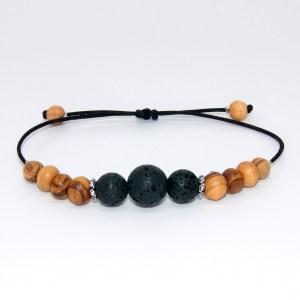 Bracelet pierre de lave – taille réglable