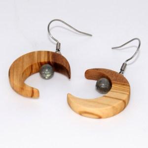 Boucles d'oreilles Eclat de Lune – Olivier et Labradorite
