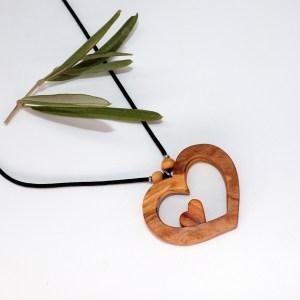 Collier Cœurs amoureux – Olivier/Cerisier