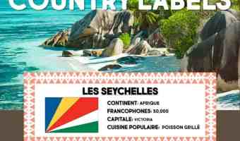 French-Speaking Countries Lesson Plan Labels