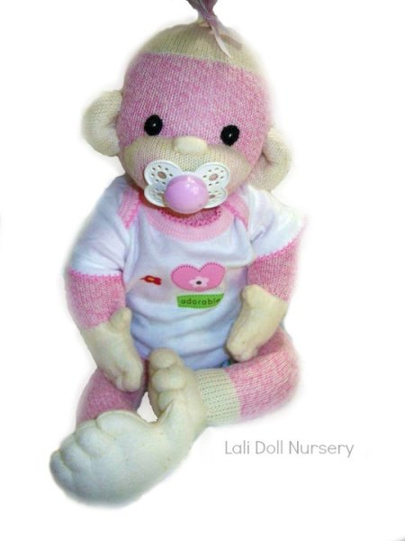 PDF Pattern with Kit supplies - Baby Sock Monkey