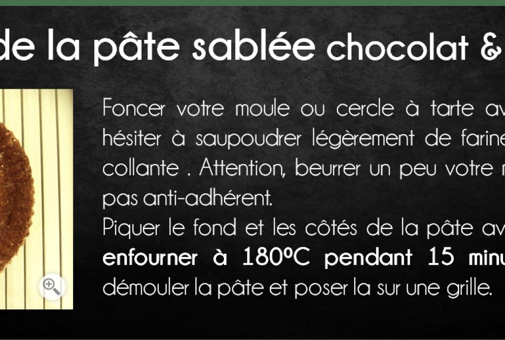 etapes tarte chocolat menthe