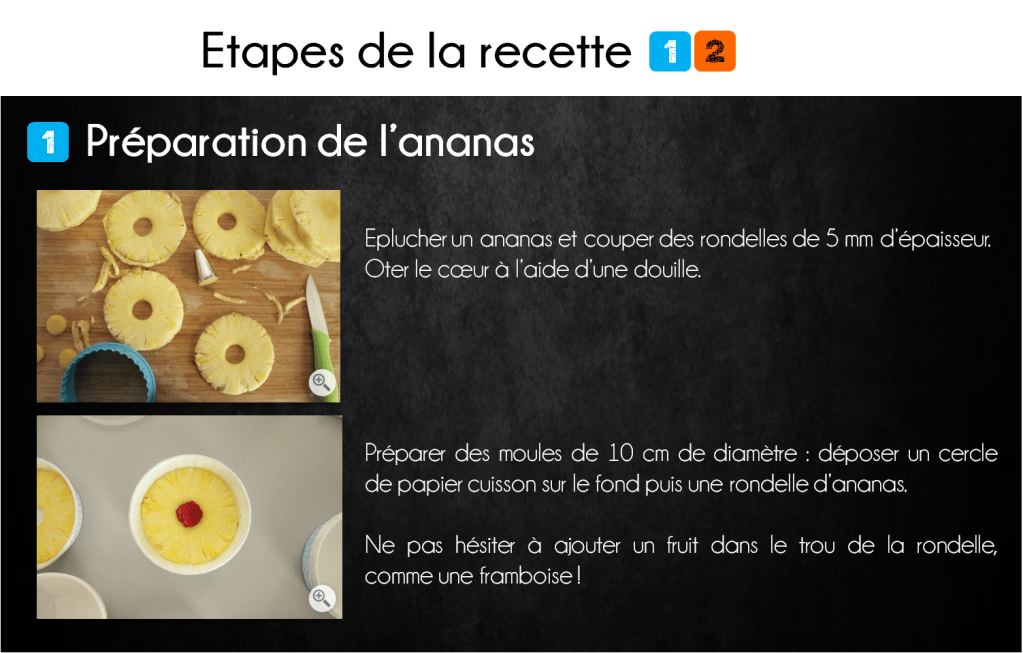 etapes moelleux ananas