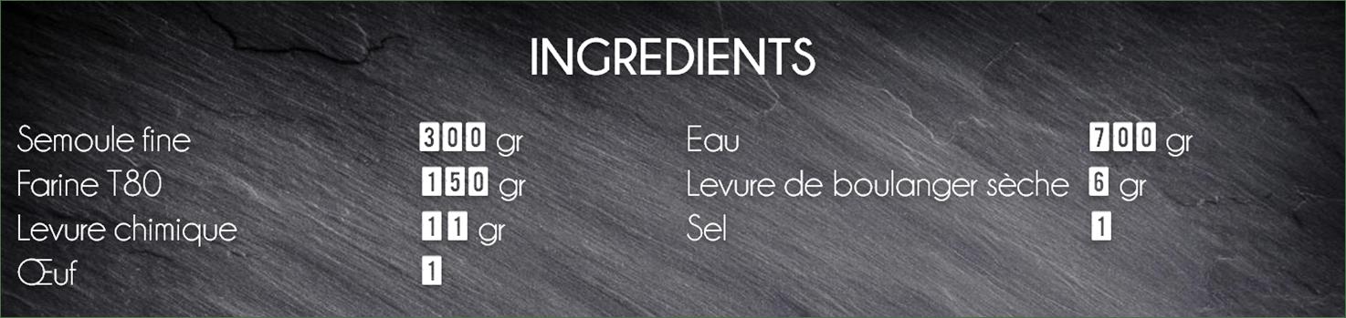 ingrédients crepe orientale