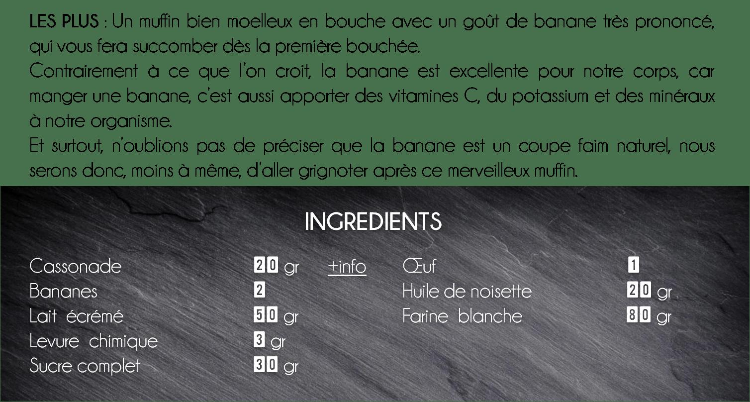 ingredient muffin banane