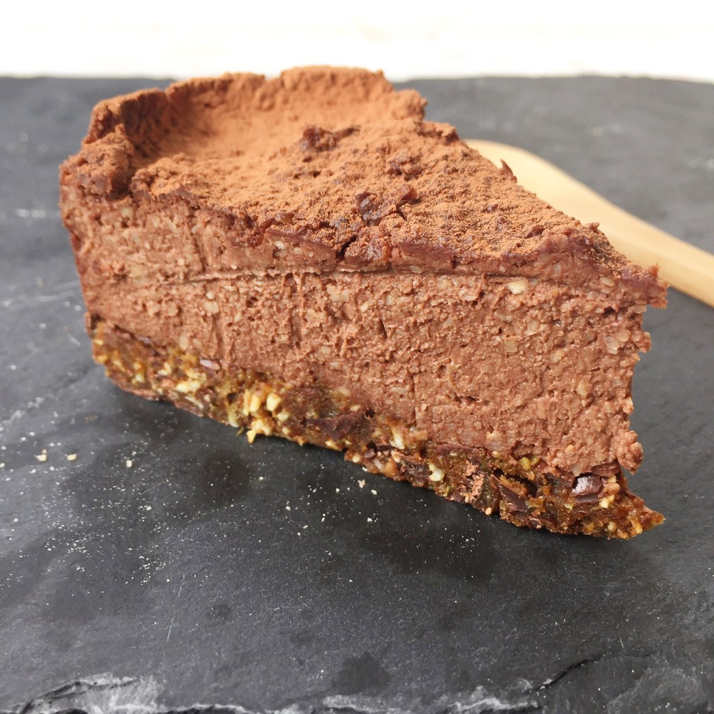 Cheesecake au chocolat (cru, vegan & sans gluten)