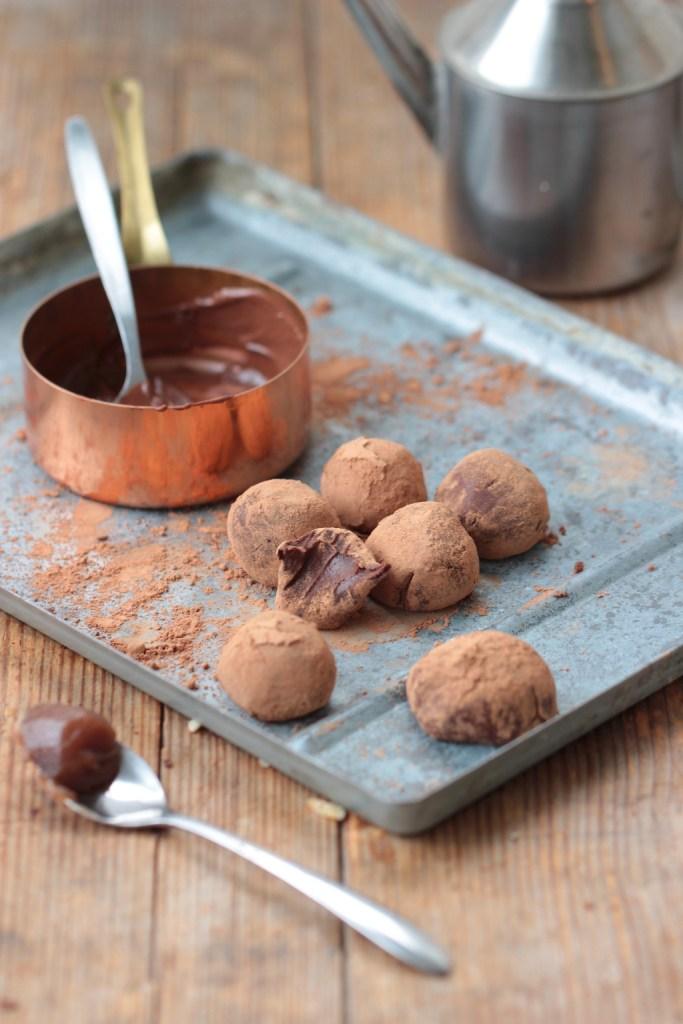 Truffes chocolat & crème de marron