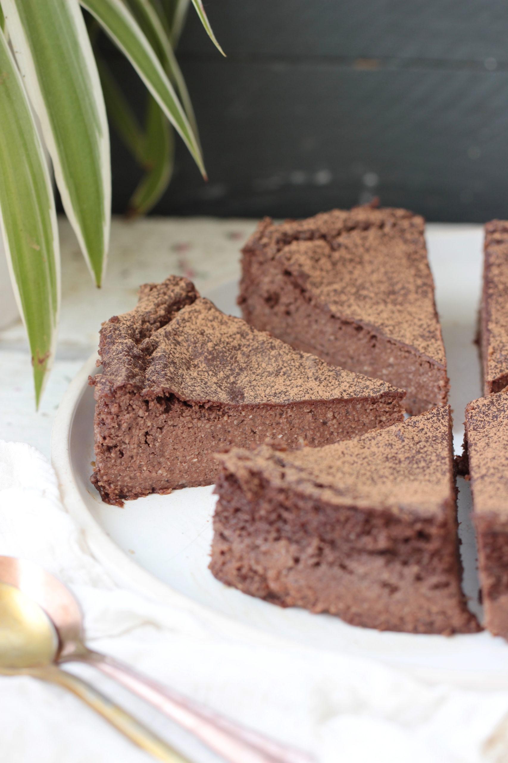 Flanfondant banane chocolat & noisette (vegan, sans gluten, sans sucre ajouté)