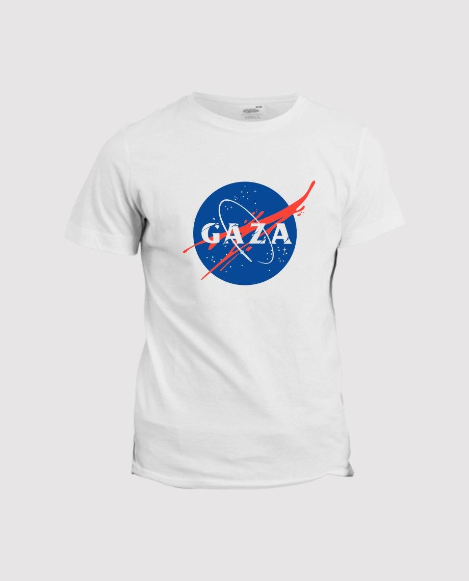 la-ligne-shop-t-shirt-blnac-homme-soutien-a-gaza-detournement-logo-nasa