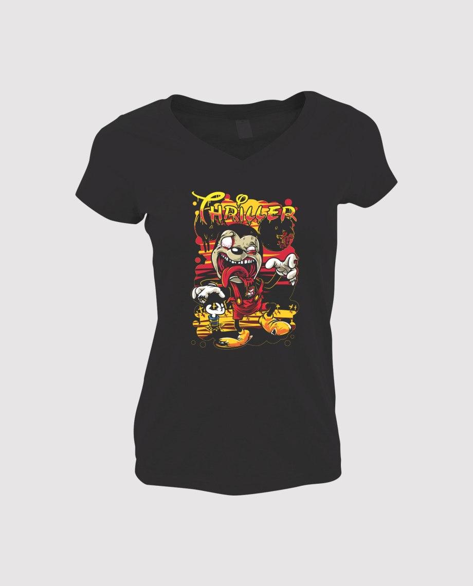 la-ligne-shop-t-shirt-femme-mickey-mouse-thriller-zombie-coucher-de-soleil