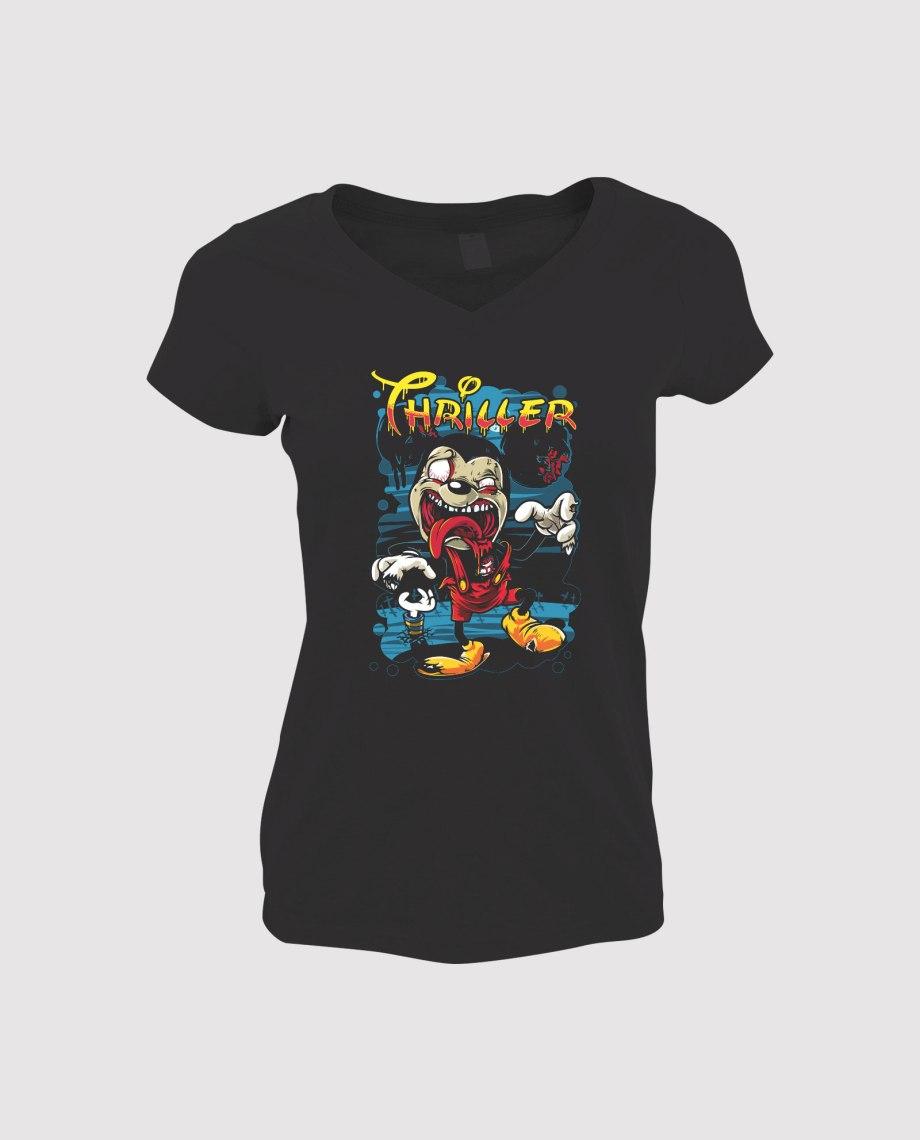 la-ligne-shop-t-shirt-femme-mickey-mouse-thriller-zombie-nuit