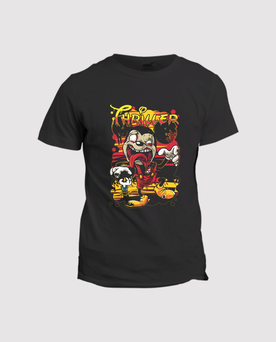 la-ligne-shop-t-shirt-homme-mickey-mouse-thriller-zombie-couche-de-soleil
