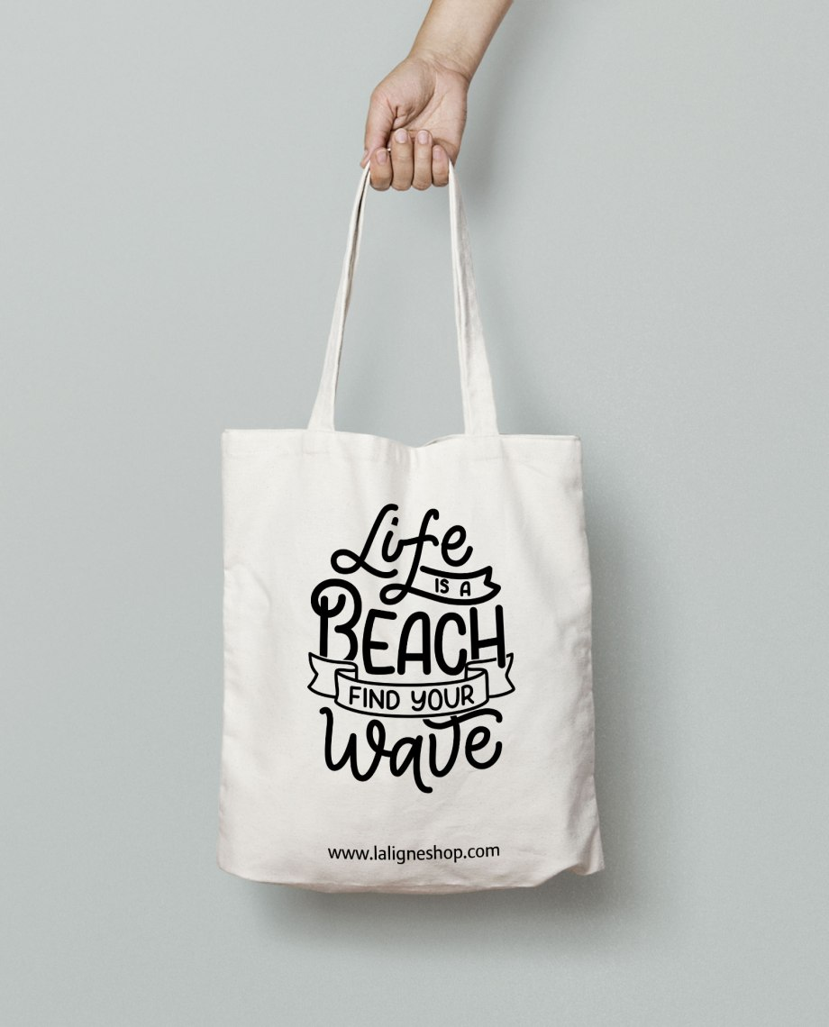 tote-bag-la-ligne-shop-life-is-a-beach-find-your-wave