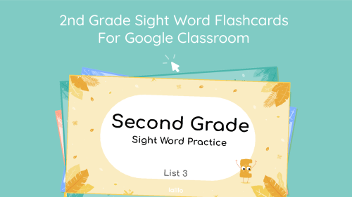 small resolution of Second Grade Sight Word Flashcards for Google Classroom - Lalilo Blog