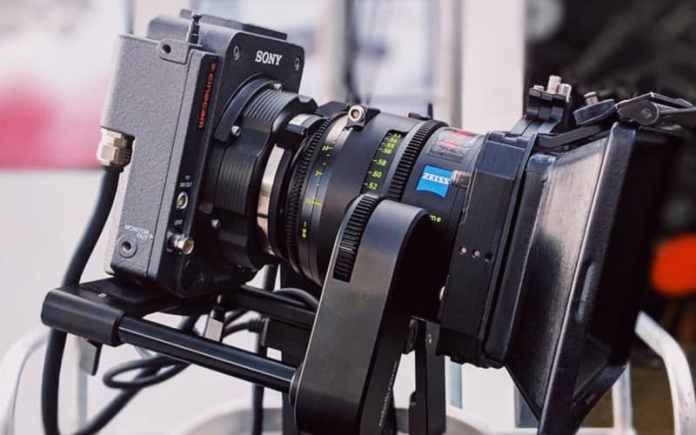 modern video camera being used to shoot bollywood film