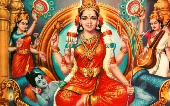 lalita tripura sundari and demon bhandasur war