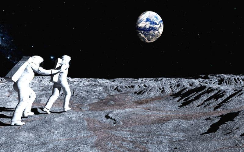 astronaut space moon