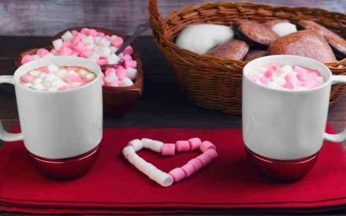 romantic coffee pamper