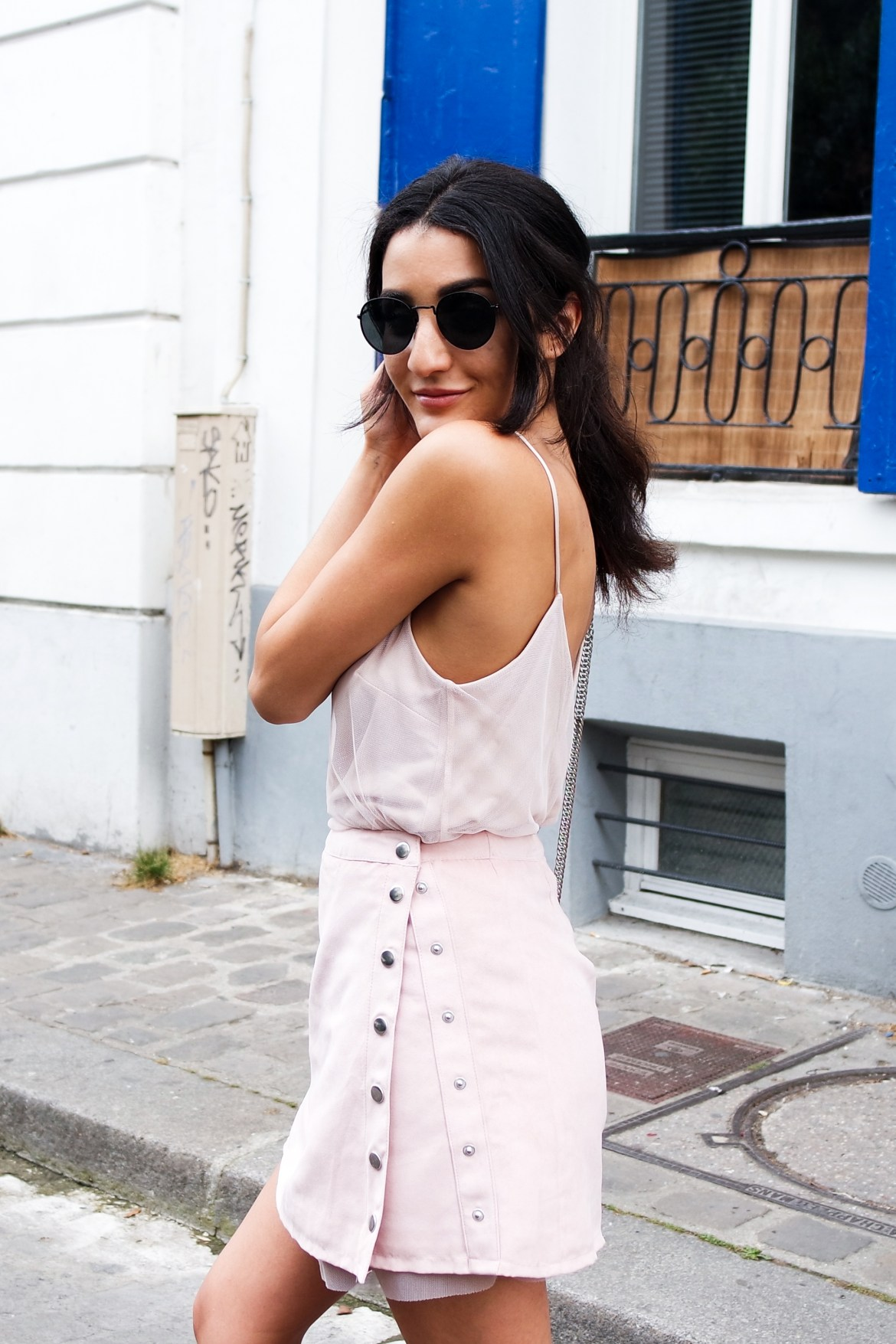 Pink outfit for a cute look - Lallasmind Belgian Blogger