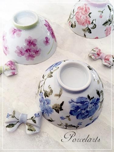 ポーセラーツお茶碗と箸置き