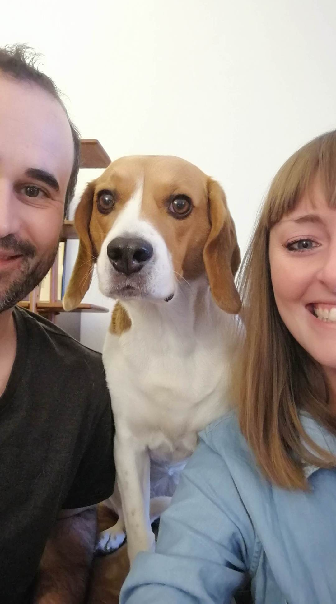 Claudio Ravasi, Angélique Dupuy et leur chienne Alma