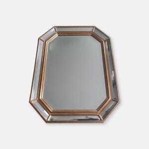 Miroir octogonal doré