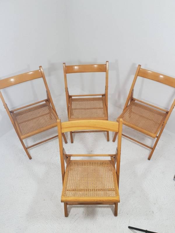 chaises pliables en osier