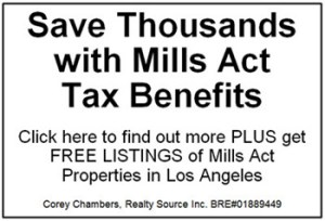 Mills Act Homes Reduce Property Taxes Los Angeles