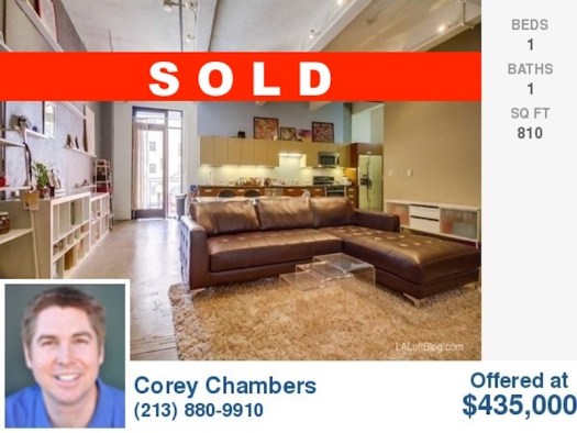 738 S Los Angeles St #302 SOLD