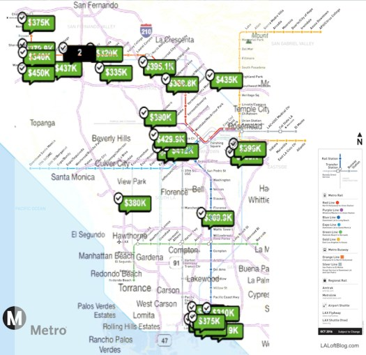 Los Angeles Metro Rail Homes For Sale near Public Transportation