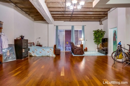 Open live/work loft with private balcony