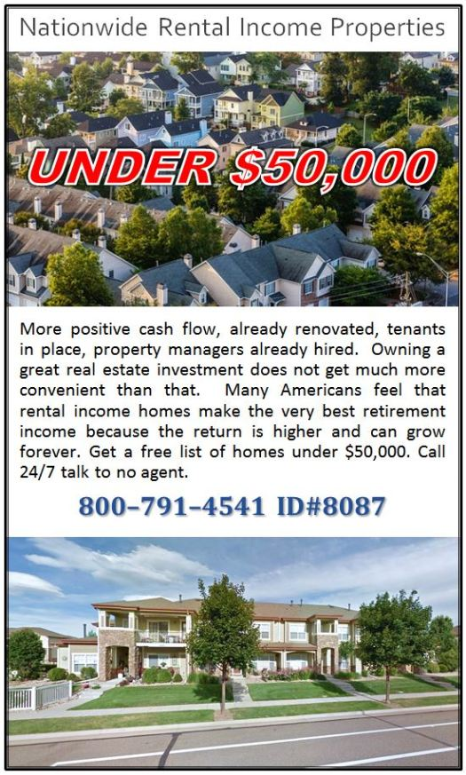 Nationwide Rental Income Properties Under $50,000