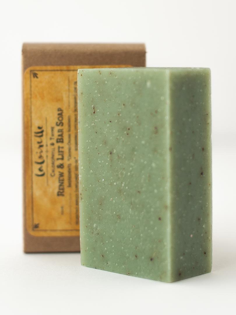 organic natural soap bar chlorophyll thyme
