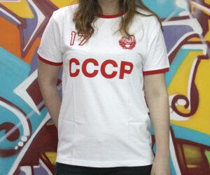 Camiseta CCCP blanca URSS Centenario Revolución Octubre 17 1917 Revolución