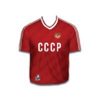 camiseta cccp roja futbol