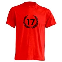 camiseta 17 roja