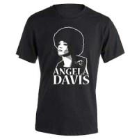camiseta de angela davis negra