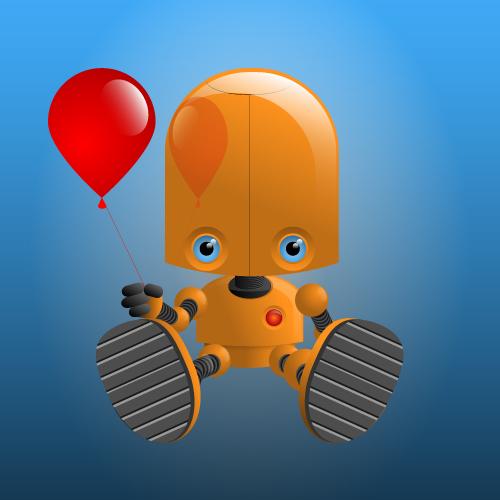 Robot with Balloon
