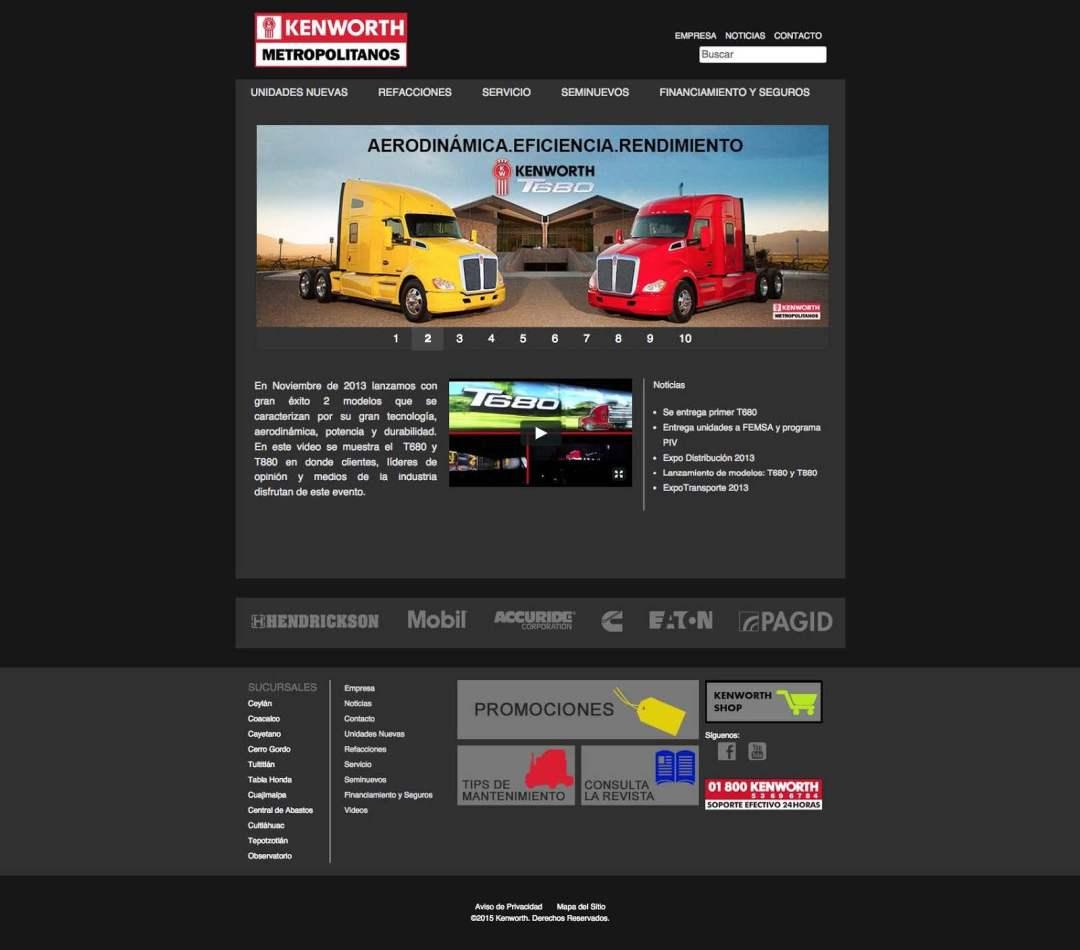 Desarrollo Web de Kenworth Metropolitanos por Lalo Marquez