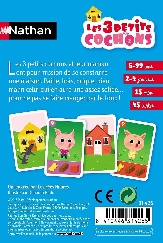Jeu De Carte A 3 : carte, Cartes, Petits, Cochons, Nathan
