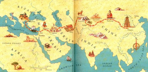 A map of the Silk Route