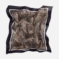 Lalouette leopard silk scarf in air