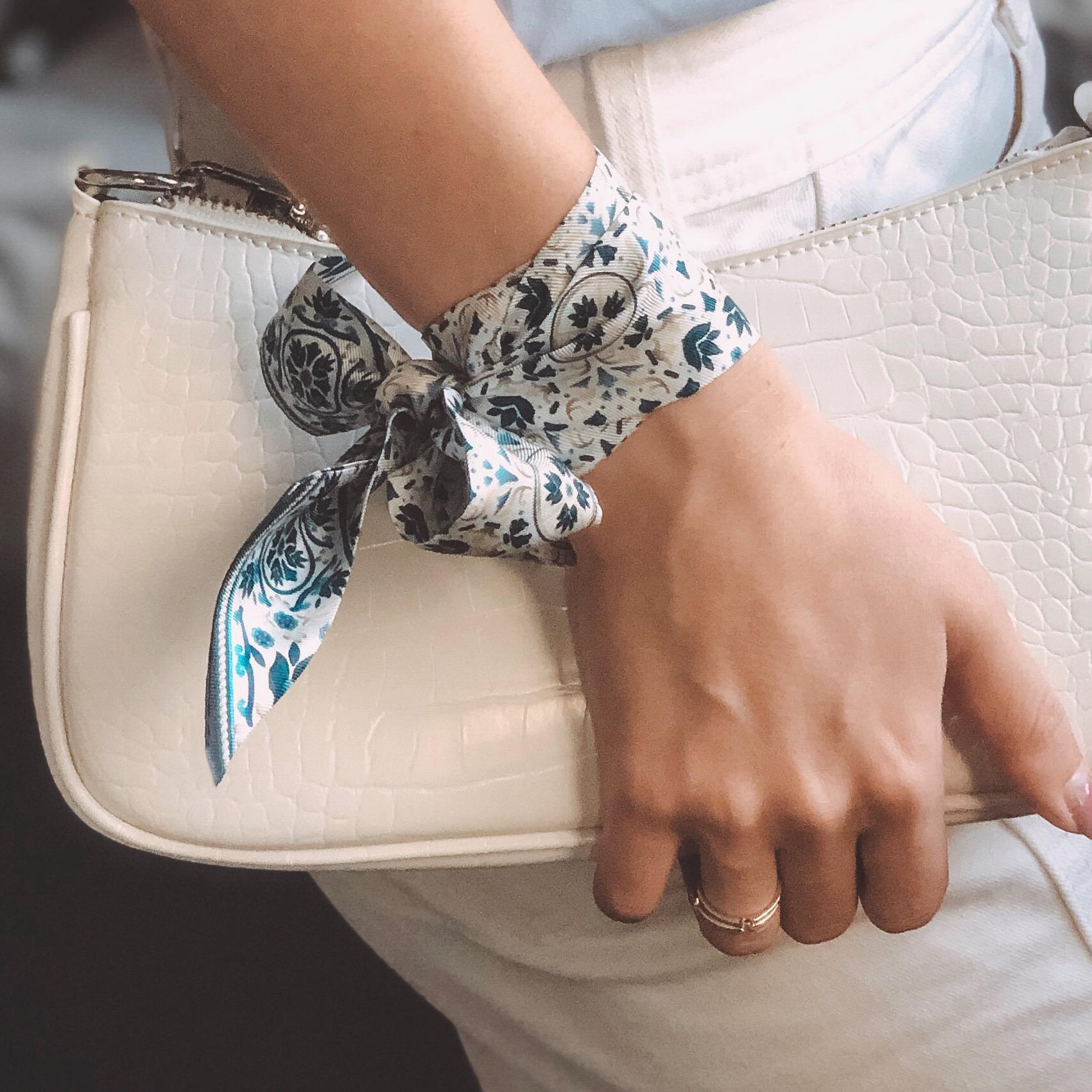 Lalouette Moroccan print skinny silk scarf bracelet