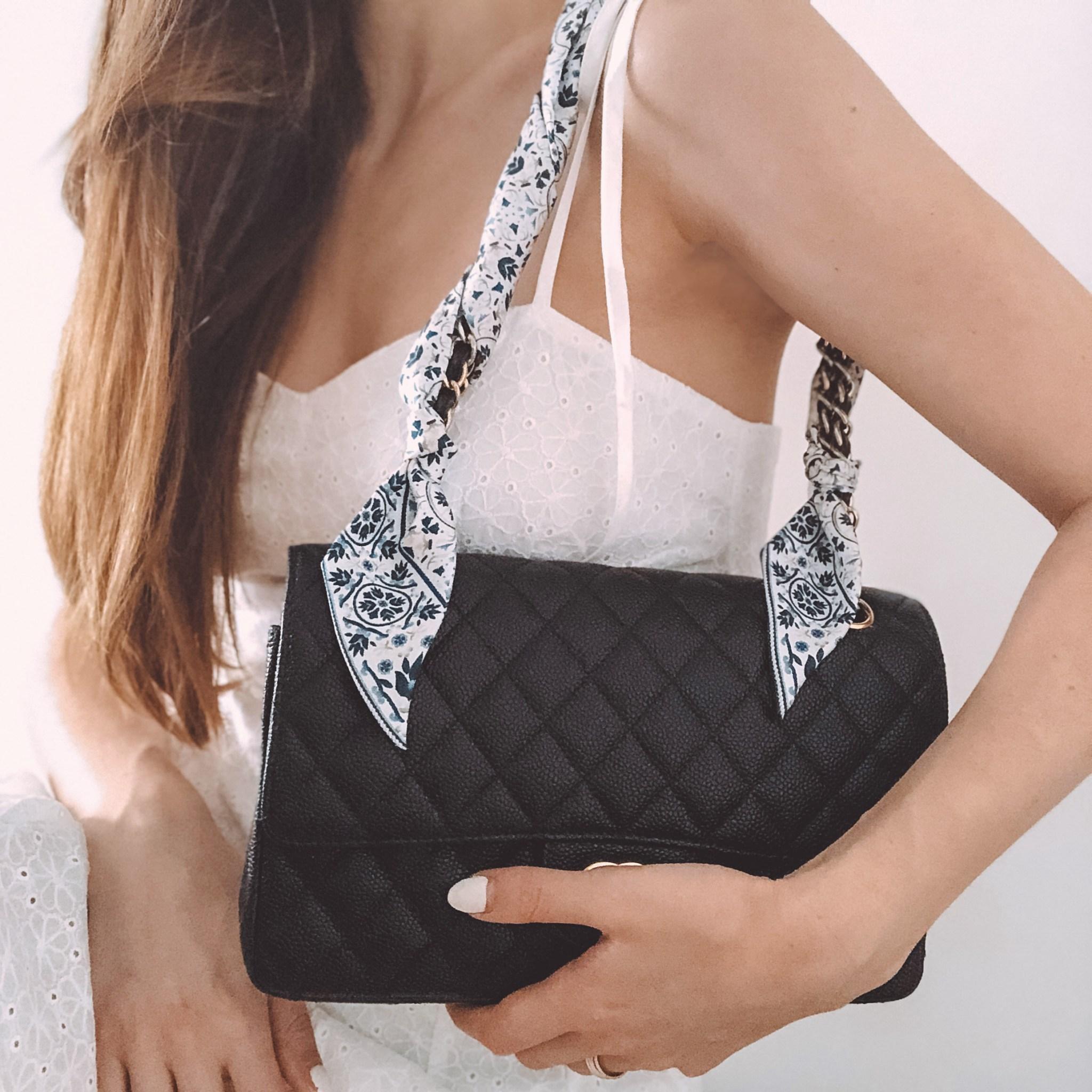 Lalouette Moroccan print skinny silk handbag scarf