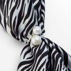Lalouette pearl scarf ring with silk scarf