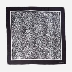 Lalouette snow leopard silk scarf flat-lay