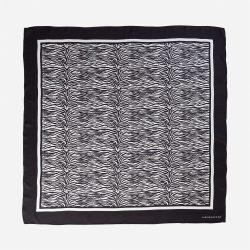 Lalouette zebra silk scarf flat-lay