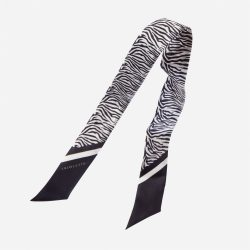 Lalouette zebra skinny silk scarf in air